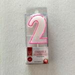 candela numero 2 rosa